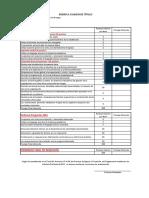 Rúbrica Examen Técnico en Prevención de Riesgos