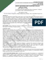 NOVEL COMPARISON METHOD FOR PASSPORT IMAGE APPLICATION