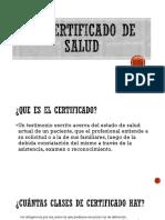El Certificado de Salud