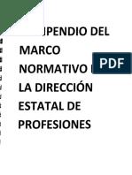 COMPENDIO DEL MARCO NORMATIVO DE LA DIRECCIÓN DE PROFESIONES