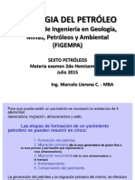1) Geol. Petroleo (Materia Examen 2do Hemis.)