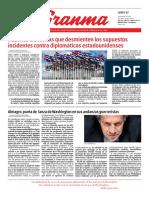 Diario Granma. 17 de septiembre de 2018. p.1