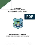 Pedoman PMKP RS Tadjuddin Chalid 30122016
