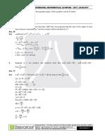 Pre RMO 2017 Question Paper