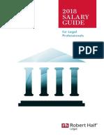 2018 Salary Guide CA Legal