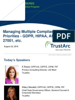 Managing Multiple Compliance Priorities Seris | TrustArc
