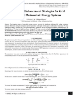 Performance Enhancement Strategies for Grid Connected Photovoltaic Energy Systems