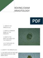 Moving Exam Parasitology