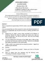 ISC 2017 English Language Paper 1