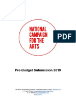 Ncfa Pre Budget Submission 2019