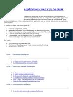 Développez des applications Web avec Angular