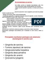 Patologia Stomatologica in Sarcina