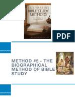 Bible Study Methods—#5 Biographical Method