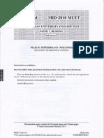 Malaysian University English Test (MUET Paper 3) Mid-Year 2010