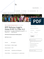 RPP Bahasa Inggris Kelas 8 KD 3.2 Dan 4.2 – Bahasa Inggris