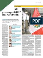 Cuestión de Confianza Por Las Reformas