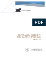 Proyecto Te Ayudamos a Inscribir Tu Organización Social