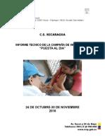 Informe Tecnico de Campaña de Vacunacion Puesta Al Dia
