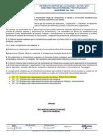 ID-7.1.3 Directriz de La Infraestructura Del SGC