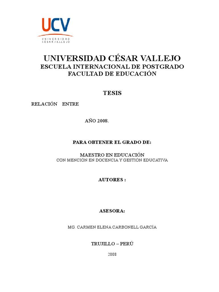Modelo de tesis maestria ucv for Tesis de arquitectura ejemplos