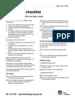 FTR72 New Tenant Checklist