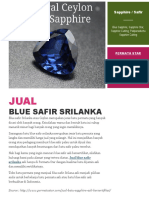 Jual Blue Safir Srilanka