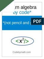algebra-by-code