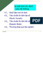 Dieu Khien Tu Dong - Chương 4 Khảo Sát Tính Ổn Định Của Hệ Thống
