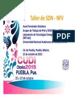 Taller SDN NFV Reunion OtonoCUDI2015 Azael