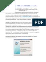 Mengatasi Eror Code HRESULT 0xc8000222 Saat Install Net Framework 4
