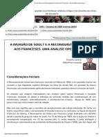 A Invasão de Soult e a Reconquista de Chaves Aos Franceses. Uma Análise Operacional