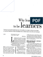 Why Leaders Have to Be Learners