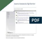 Crear Una Nueva Instancia SQL Server 2008