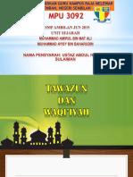 Tawazun Dan Waqiyyah
