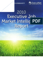 ExecuNet Job Market Intelligence Report Exec Summary 2010