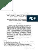 Artigo 1-3. Área Superficial Específica, Porosidade Da Fração Argila e Adsorção de Fósforo Em Dois Latossolos Vermelhos
