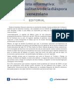 Enfoque cualitativo de la diáspora venezolana