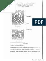 Municipio de Añasco Demanda Al Gobierno Central y Al DTOP