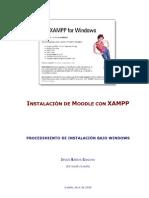 Moodle2.0 Install Moodle Xampp1.6.6a
