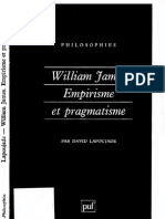 David Lapoujade - William James. Empirisme et pragmatisme