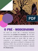 o Pré - Modernismo