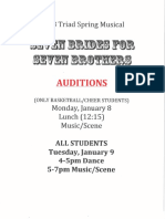 Seven Brides for Seven Brother Song List