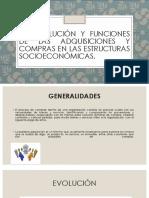1.1 Evolucion y Funciones de Adquisiciones y Compras en Las Estructuras Socioeconomicas