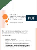 Sesion 01 - Aspectos Generales de La Ley de Contrataciones Del Estado y Su Reglamento