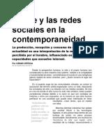 El Arte y Las Redes Sociales en La Contemporaneidad
