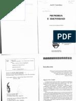 02 - Joel Candau - Memoria e Identidad (100 Copias)