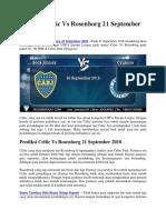 Prediksi Boca Juniors vs Cruzeiro 20 September 2018