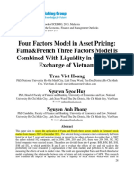 Four Factors Model in Asset Pricing Fama&French Three Factors Model is Combined With Liquidity in the Stock Exchange of Vietnam