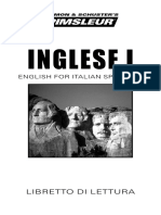 Languages - Pimsleur English for Italian Speakers I - Libretto Di Lettura