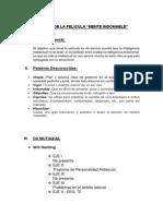 Análisis de La Pelicula Mente Inomable Listo
